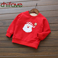chifave Character Father Christmas Warm Cashmere Kids Girls Pullover Sweatshirt 2016 Autumn Winter Baby Girls Santa Claus Shirt
