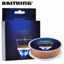 KastKing Fortis 4 Strands 8-80LB 320M/350Yards PE Braided Fishing Line Brown/Yellow/Blue/Green/Pink Carp Fishing Line