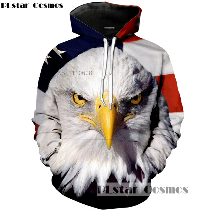 PLstar Cosmos American stars and stripes and eagles 3d fashion printed hoodies men/women sweatshirt hip-hop loose thin hoodie