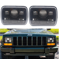 5x7 7x6 Inch Truck light LED Headlight with High Low sealed beam For Wrangler YJ Cherokee XJ Comanche MJ Led Square Headlamp