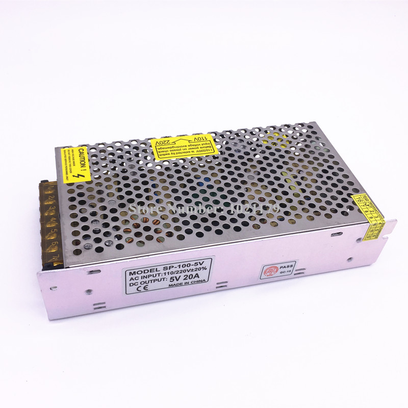 High quality 5V 20A 100W power supply switch 20A AC 110V / 220V - 50V power supply transformer 220v ac 110v nano 50 100