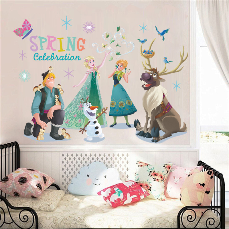 Disney Frozen Elsa /& Snow Flakes-Wall Decals removable Craft stickers-US Seller