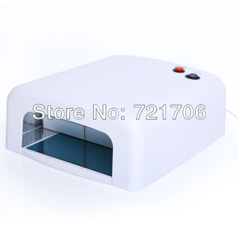 DHL Free shipping. 36W White Nail Art UV Gel Curing Lamp Dryer Light UV lampEU PLUG 220~240v  Dropshipping