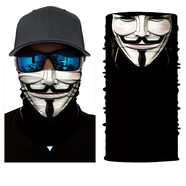 BJMOTO Halloween Scarf Mask Festival Motorcycle Face Shield Sun Mask Balaclava Party Masks Festive Supplies Masquerade Mask 4
