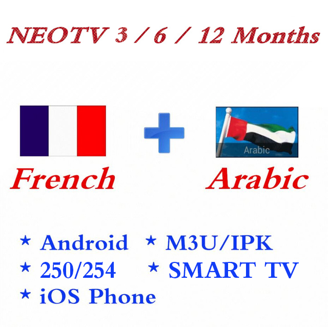 New NEOTV Pro2 French IPTV Subscription 1400+ Channels For Europe France Arabic Belgium Abonnement LiveTV VOD M3U Android TV Box