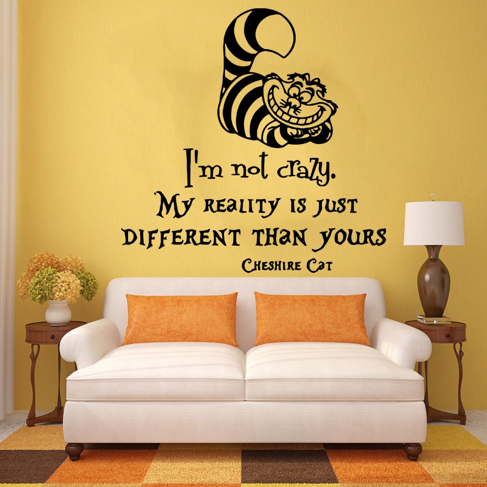 Vinyl Wall Mural Kids Bedroom Babies Room Decor Alice In Wonderland ...