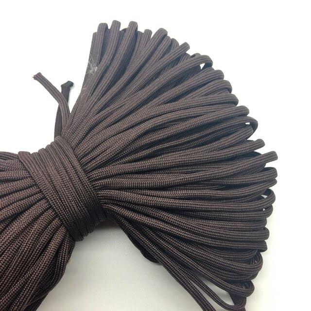 10yds/lot темно-коричневый Паракорды Браслеты Веревка 7 Strand парашют шнур Кемпинг Туризм # sz51