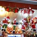Paracaídas 24 cm Santa Claus Smowman Techo Casa Decoraciones de navidad Año Nuevo Colgante Colgante de Navidad Decoración De Navidad Suministros