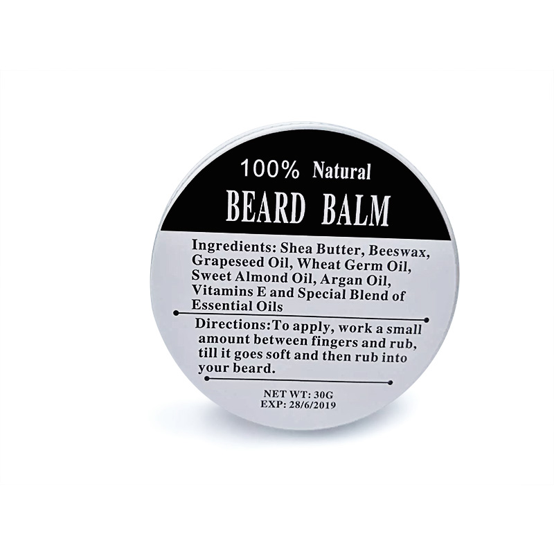 Men Style Shop Preboily Top Quality 30G Natural Beard Oil Conditioner Beard Balm for Beard Growth and Organic Moustache Wax for Beard Styling