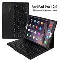 "For Apple iPad Pro 12.9"" Magnetically Detachable ABS Bluetooth Keyboard Portfolio Folio PU Leather Case Cover + Stylus Pen +Film"