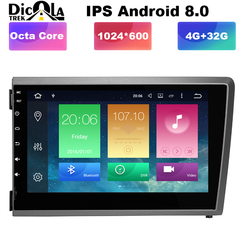 8 4G DSP IPS Android 8 0 CAR DVD PLAYER For Volvo S60 V70 XC70 2000