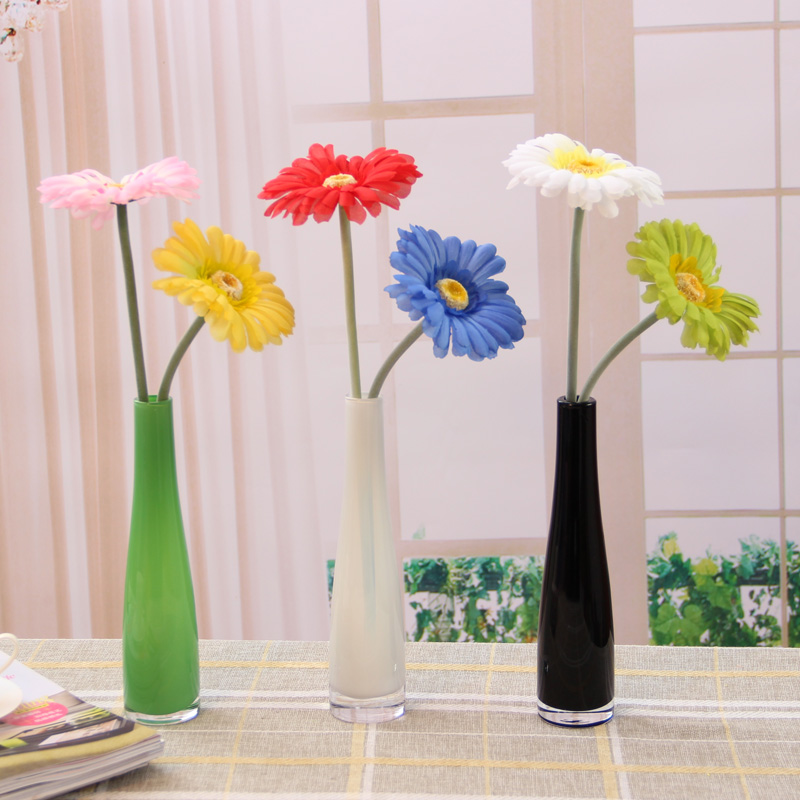 European home decor crystal clear glass vase device table for Crystal home decorations