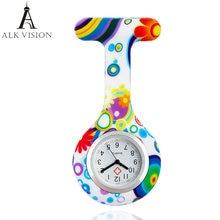 Модные цветочные Висячие часы в форме сердца медсестры силиконовые