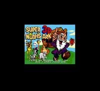 Super Noah S Ark 3D 16 Bit Big Gray Game Card For NTSC USA Game Console
