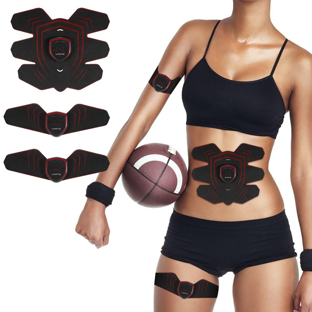 Abdominale Formateur Musculaire EMS Stimulation Musculaire Sans Fil Stimulateur Corps Masseur Ceinture AB USB Abs Formation Fitness Machine Vitesse