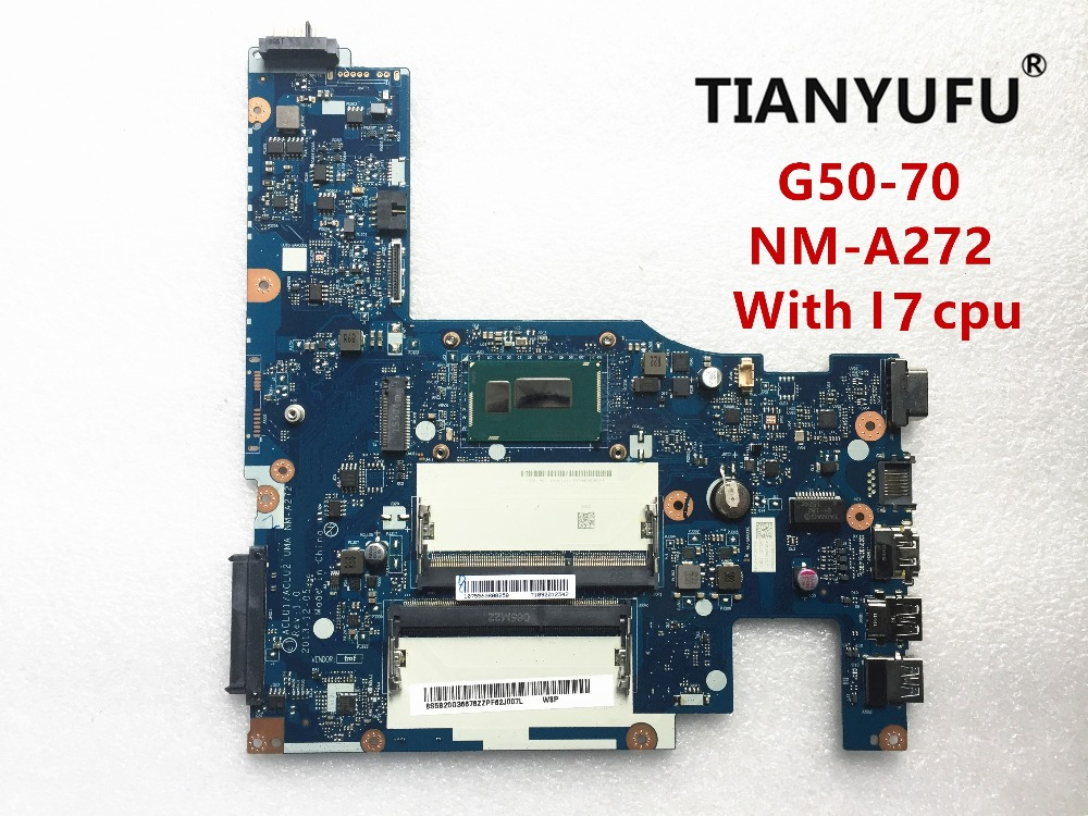 ACLU1 ACLU2 NM A272 laptop Motherboard for Lenovo G50 70 motherboard nm a272 motherboard With i7