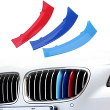3pcs Car-Stylling Tri-Color Grille Insert Trims Front Kidney Grille Strips With Heat Resistance for BMW X3 F25 F26