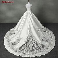 Кружево Свадебные платья без бретелек из бисера линии Свадебные платья Weding Свадебные невесты Платья для женщин Weddingdress Vestidos De Novia