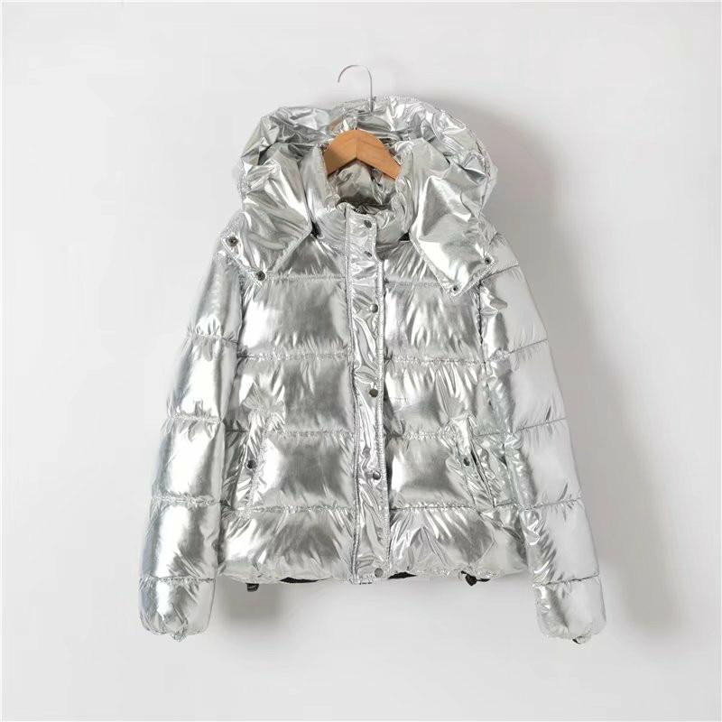 Bread Short Thicken Pp46130silver Reflect Ladies Silver Women Dames Coat Parka Metal Light Style Jackets Warm Sale New Winter 2017 Hot Colour U60wqnf