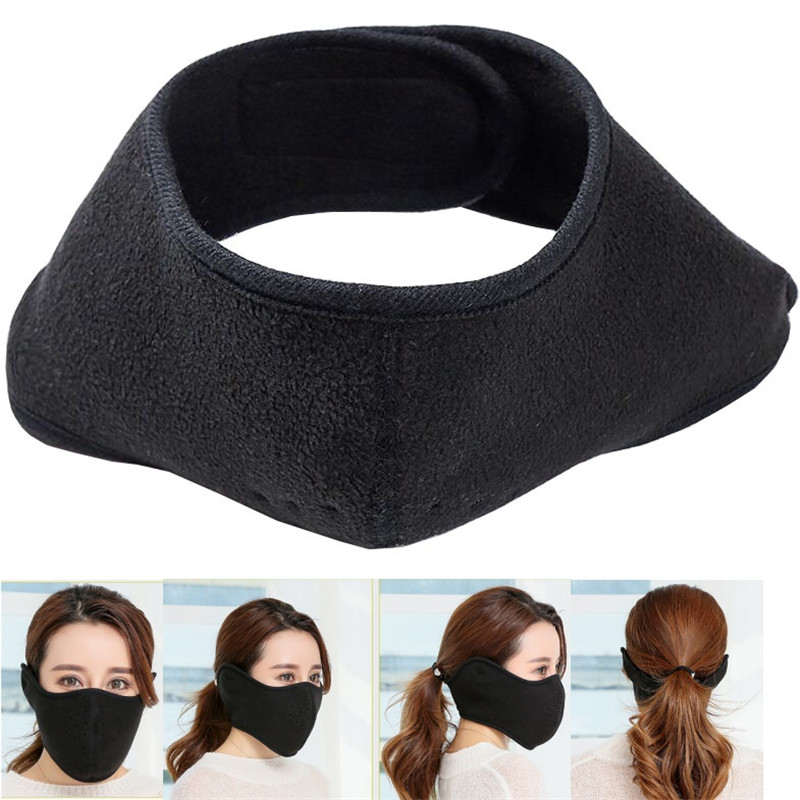 Luxembourg Country Name Red Earmuff Ear Warmer Faux Fur Foldable Outdoor
