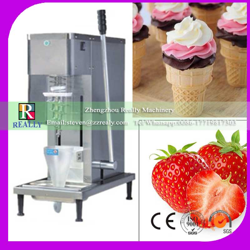 CE Approved 304 Stainless Steel Swirl Freeze Yoghourt Mixer Machine