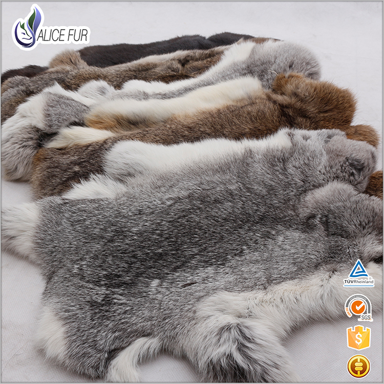 Raw Rabbit Fur / Natural Rabbit Skin / Rabbit Fur Materiale