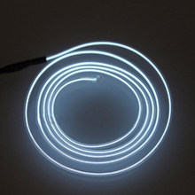 LED Interior DIY Ambient Atmosphere Lamp DC 12V White Cold Decor Light Strip Vehicle Universal Car 2m Optical Fiber(China)