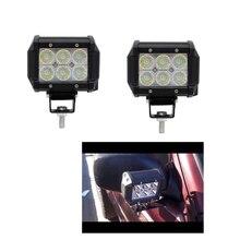 цена на ECAHAYAKU 2Pcs Flood Beam 4Inch 12V Led Light Bar 6000K 2400Lm Led Chip Spot Auto Replacement Parts For Jeep Bmw Audi Daf Honda