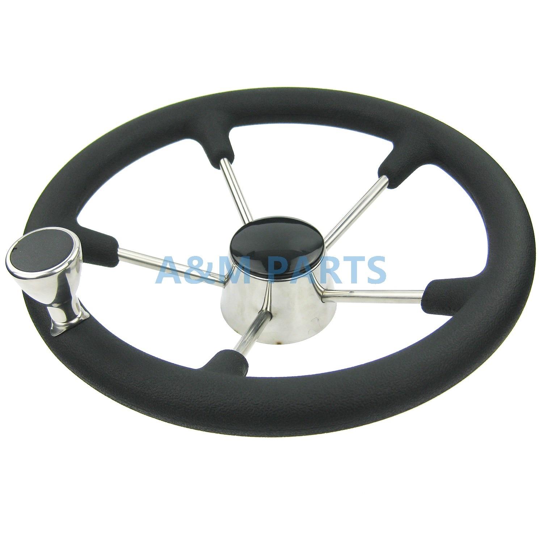 купить 13-1/2'' Boat Marine 5 Spoke Destroyer Steering Wheel with Black Foam Grip Knob по цене 4164.35 рублей