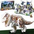 Mundo jurásico Tyrannosaurus Base de Bloques de Construcción Ladrillos de Dinosaurios Para Niños Regalos Para Niños Juguetes Compatible Con legoe