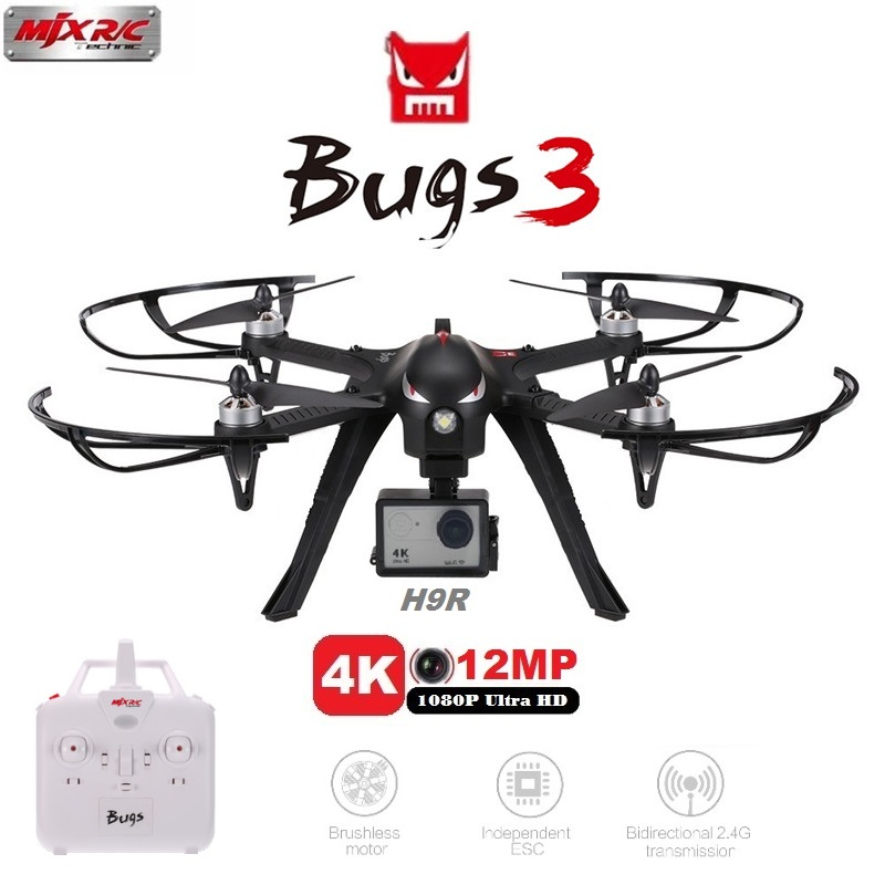 MJX Bugs 3 B3 RC Drone With H9R 4K HD Camera 4CH 2.4G 6-Axis Gyro Brushless Motor Professional Quadcopter Dron VS SYMA X8PRO 2015 hot sale quadcopter 3 axis gimbal brushless ptz dys w 4108 motor evvgc controller for nex ildc camera
