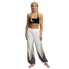 Summer Hot Sale Harem Pants Bohemian Digital Print Wide Leg Fitness Casual High Waist Women