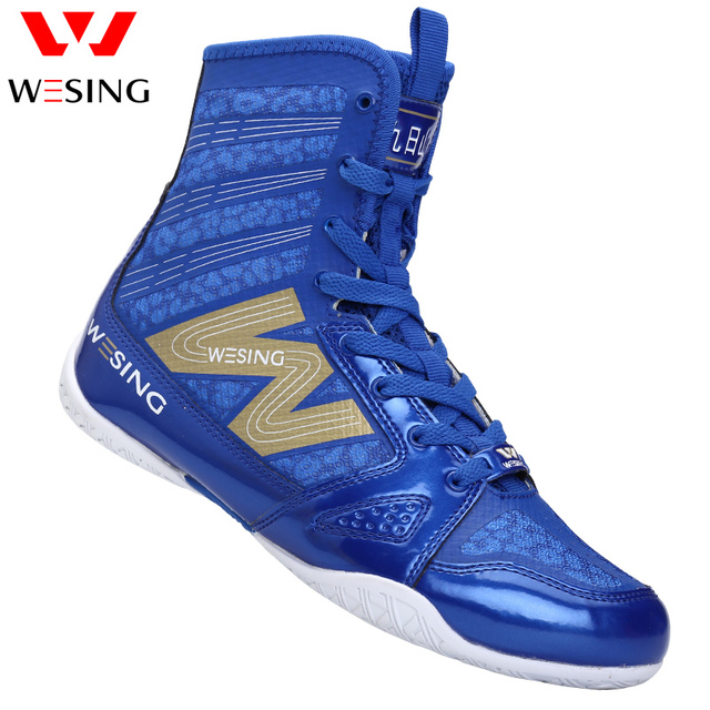 High Quality black boxing shoes men women training shoes sport sneakers professional Martial art MMA Grappling boxing shoes