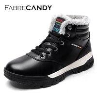 FABRECANDY Winter Men Fashion Laarzen Casual Mannen Lederen Mocassin Merk Winter Schoenen Heren Enkellaars Cowboy Boots001