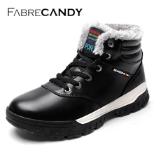 FABRECANDY Winter Men Fashion Leather Boots Casual Men Leather Moccasin Brand Winter Men Shoes Men Ankle