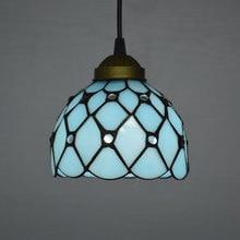 Fashion Tiffany Lamps Mediterranean Sea Style Pendant Light Lake Blue E27 110-240V цена 2017