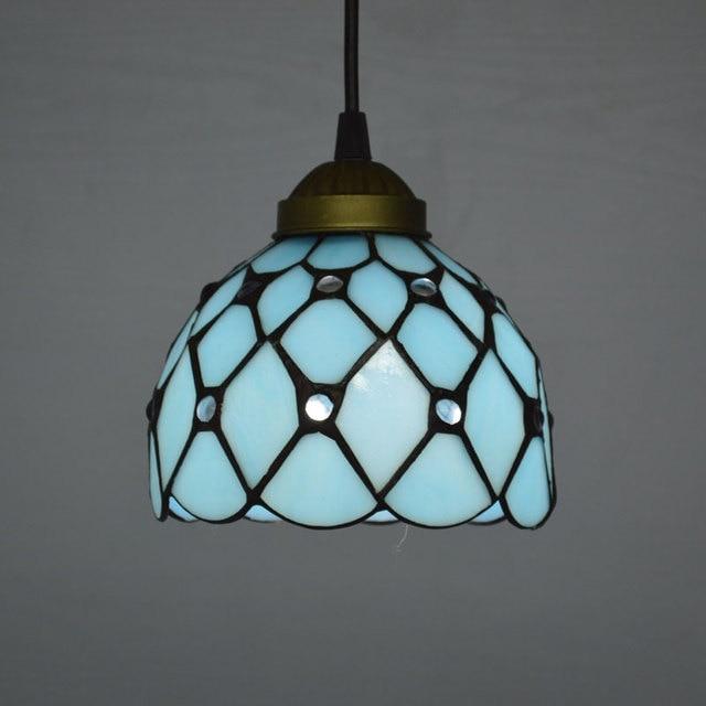 Tiffany pendant light mediterranean sea style lake blue color tiffany pendant light mediterranean sea style lake blue color bedroom light fixtures e27 110 240v mozeypictures Images