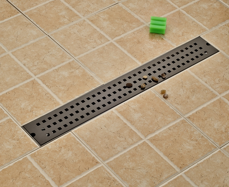 Oil Rubbed Bronze Bathroom Floor Drain 70cm Grid Ground Leakage Stainless Steel modern 90 10 cm oil rubbed bronze style deodorization grate waste floor drain floor mounted