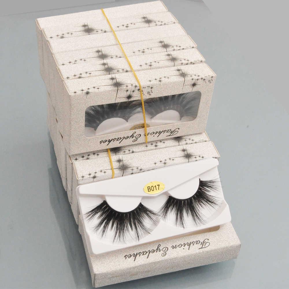 Оптовая продажа 25 мм ресницы 3D норковые ресницы 10 пар/упак. накладные ресницы Искусственный фарет натуральная длинная блестящая бумага упаковочная коробка