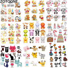 ZOTOONE Heat Transfer Cartoon Small Animal Clothing Accessories Printing DIY Owl Elephant Childrens T-shirt Patch Hot Press D