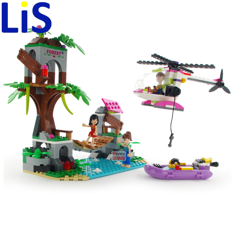 Lis COGO 14521 Dream Girl Educational Building Blocks Toys For Children Kids Gifts Mini Boat Helicopter House Compatible Lepin