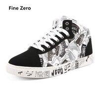 Fine Zero Unisex Spring Autumn Big Size Mix Color High Top Sneakers Men Skateboarding Shoes Athletic