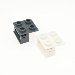 20Pcs/Lot MOC Brick Parts Hinge Brick 2x2 Top Plate Thin Hinge Brick 1x2 Base Compatible with 3937 6134 Kids DIY Toys Gifts(China)