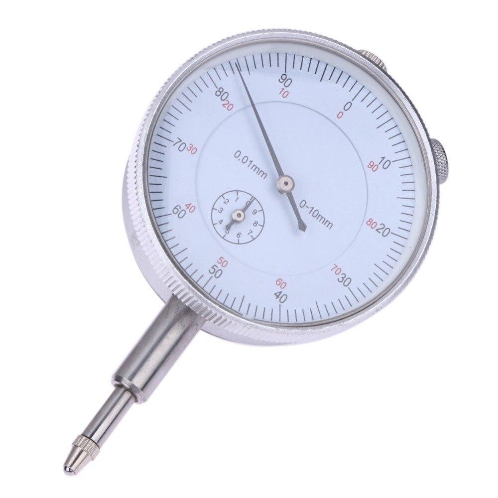 Dial indicador precisión 0,01mm precisión prueba Gauge con Lug volver medición 0-10mm medidor resolución indicador
