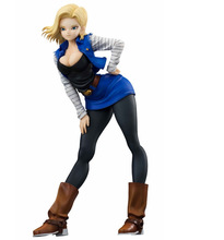 ФОТО 19cm dragon ball sexy android 18 lazuli action figure toys collection doll christmas gift