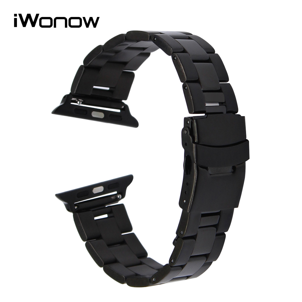 Stainless Steel Watchband + Quick Release Adapters for 38mm 42mm iWatch Apple Watch Band Safety Buckle Wrist Strap Link Bracelet stainless steel watchband with adapter tool for iwatch apple watch 38mm 42mm safety buckle band link strap wrist belt bracelet