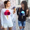 2016 Hottest Trend Kawaii Pompon Long Sleeve Pullovers Sweater Women sweater Plus Size sudaderas mujer