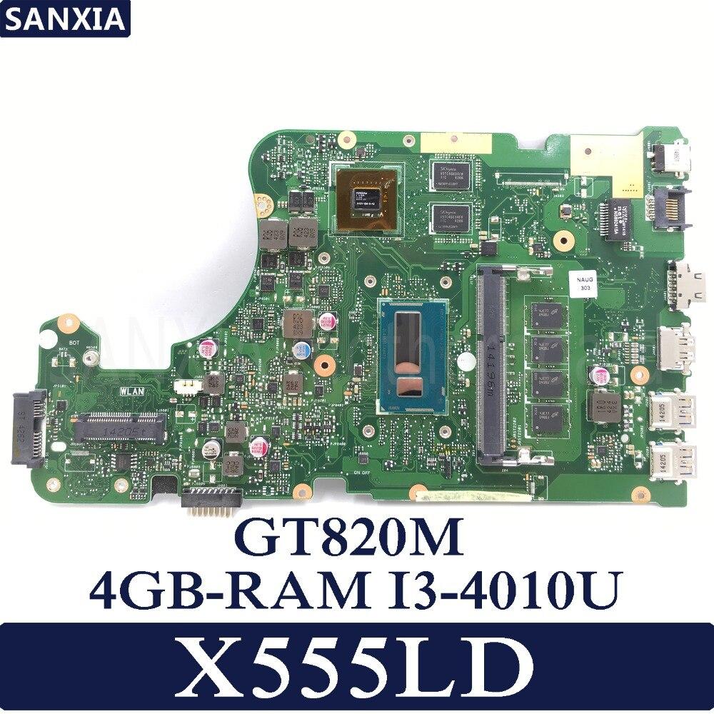 KEFU X555LD mère D'ordinateur Portable pour ASUS X555LD X555LP X555LA X555L X555 Test à bord carte mère 4g RAM I3-4010U GT820M