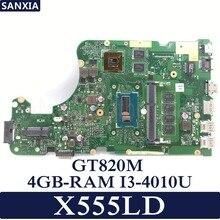 KEFU X555LD Laptop motherboard for ASUS X555LD X555LP X555LA onboard mainboard 4G-RAM I3-4010U GT820M