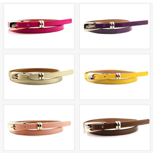 Thin Leather Waist Belt